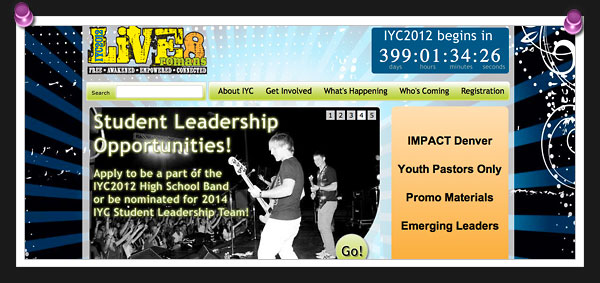 Screenshot of the IYC2012 website